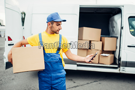 cargo, delivery, service, , courier, with, box - 28083284