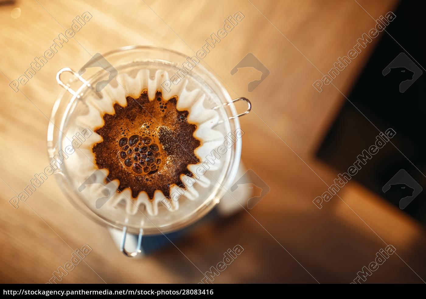 glass, coffee, pot, with, membrane, closeup, - 28083416