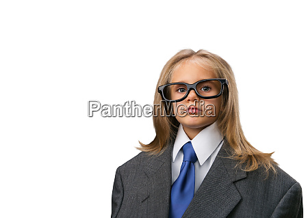 little, girl, , in, funny, spectacles - 28083983