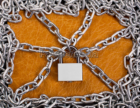 padlock, and, chains - 28083608
