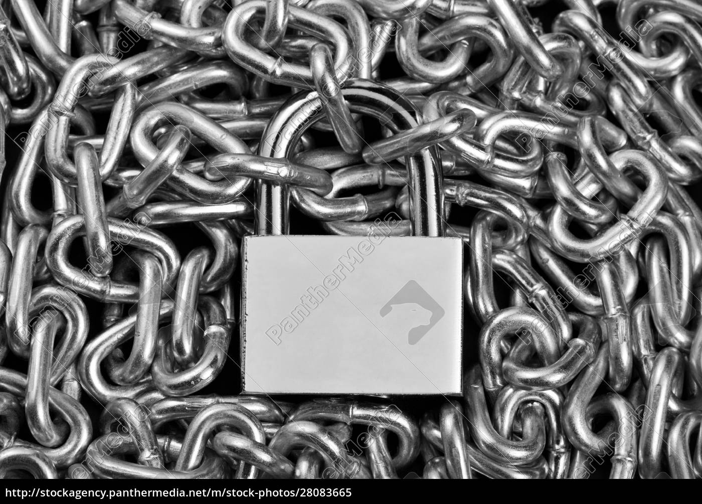 padlock, and, chains - 28083665