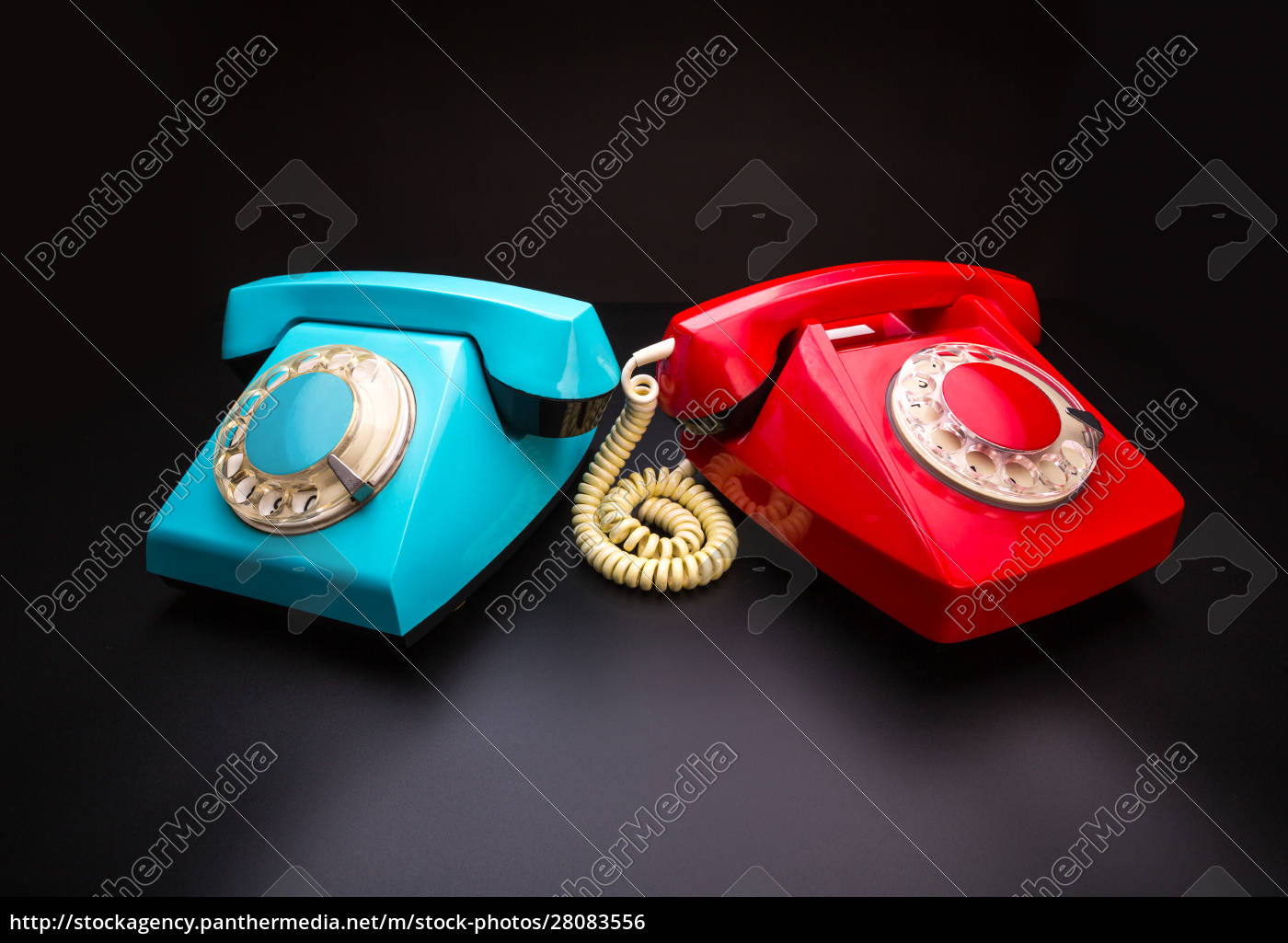 red, and, blue, telephones - 28083556