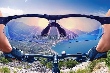 beautiful view from the bycicle