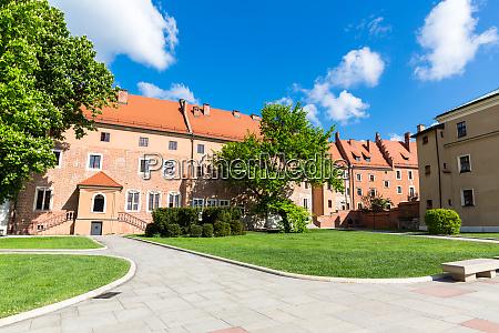 wawel castle tower krakow poland