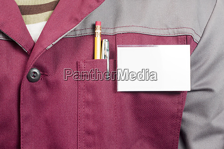 name tag on uniform