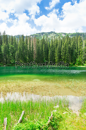 nice view of blue lake and