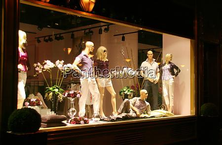 clothing store window
