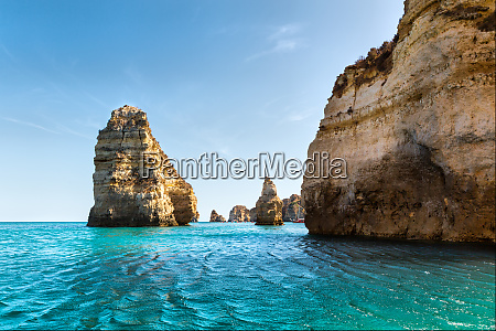 picturesque ocean with rocku cliffs