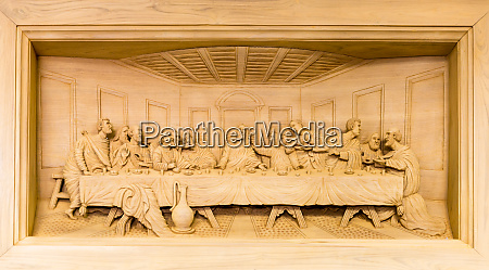 lords supper carving