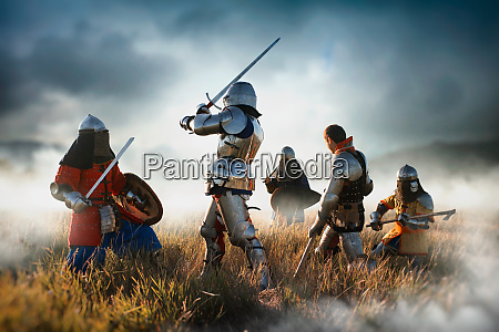 medieval knights fight great combat
