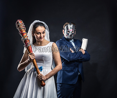 newlyweds serial murderers black background
