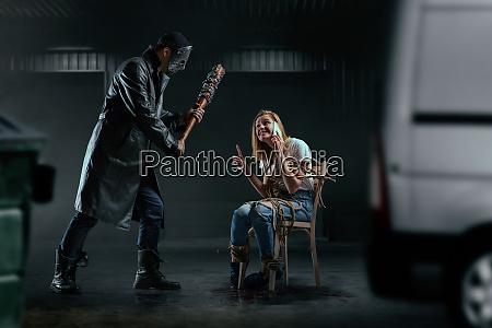 victim asks serial maniac to wait