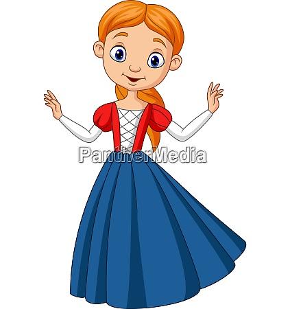 cute beautiful princess isolated on a