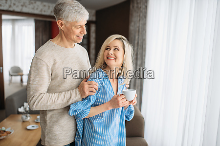 adult love couple drinks red wine