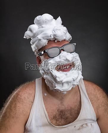 strange smiling man in glasses