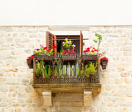 balcony in apartment building