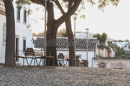 small typical portugal square with its