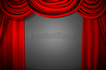 theatre curtain and lighting on stage
