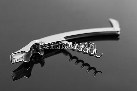 closeup of corkscrew