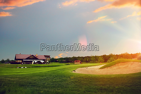 golf course launching point