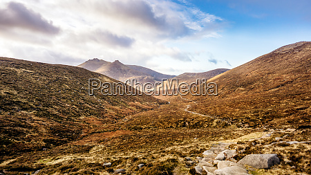 footpath leading to beautiful valley in