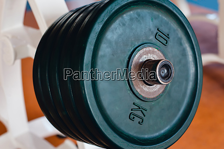 bar bells in the gym