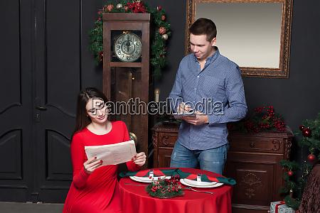 young woman explore the menu at