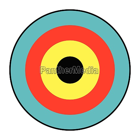 isolated archery target