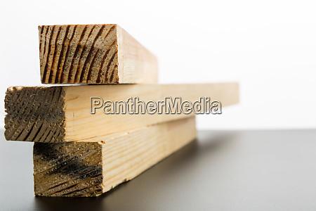three wooden planks