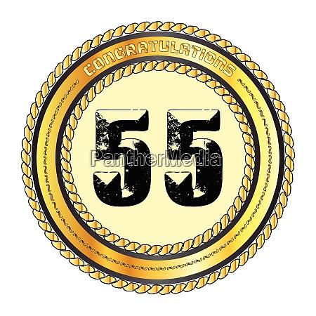 fifty five gold congratulations border