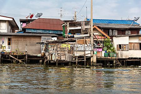 shanty town in thailand