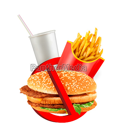 fast food danger label