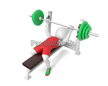 little white weight lifter