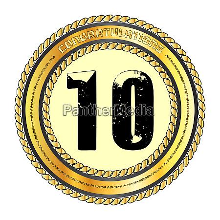 ten gold congratulations border