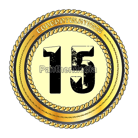 fifteen gold congratulations border