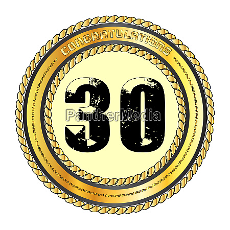 thirty gold congratulations border