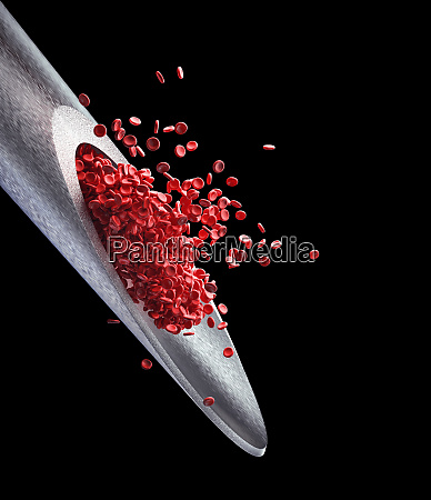 injection red blood cells with clipping