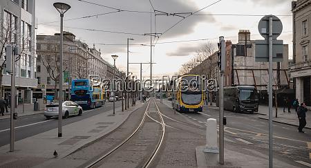 typical irish double decker bus running