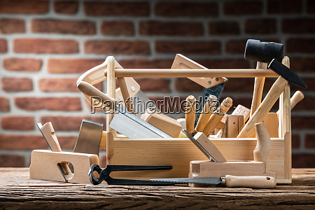 toolbox, with, carpenter, worktools - 28105657
