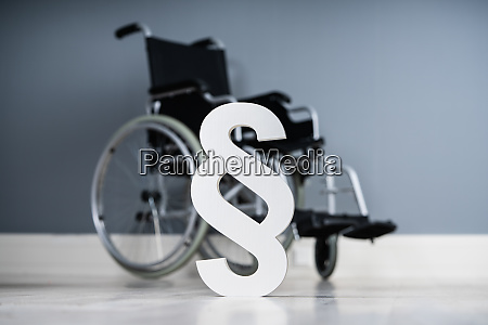 paragraph symbol on wheelchair