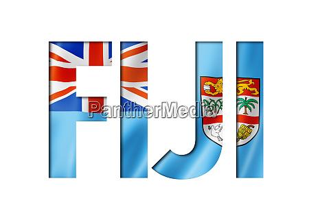 fijian flag text font