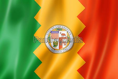 los angeles city flag california usa