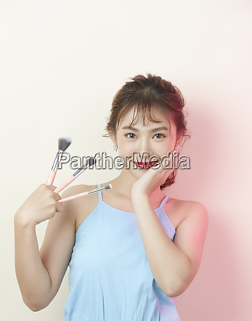 female beauty background color