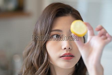 female healthy lemon