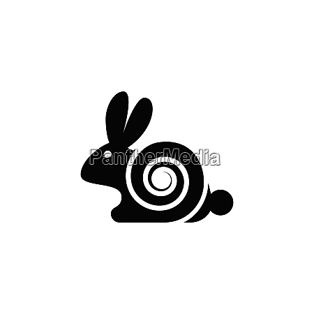 rabbit icon logo design creative rabbit