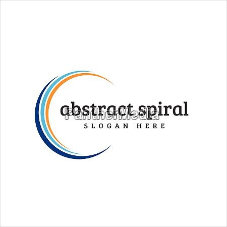 abstract company logo spiral design logo