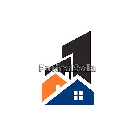 real estate vector logo template building
