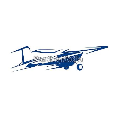 travel logo design template airplane tickets