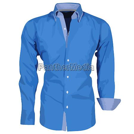 dress shirt blue fashion men formal