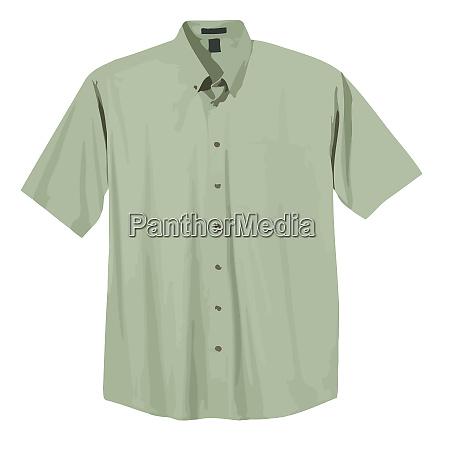 dress shirt green fashion men formal